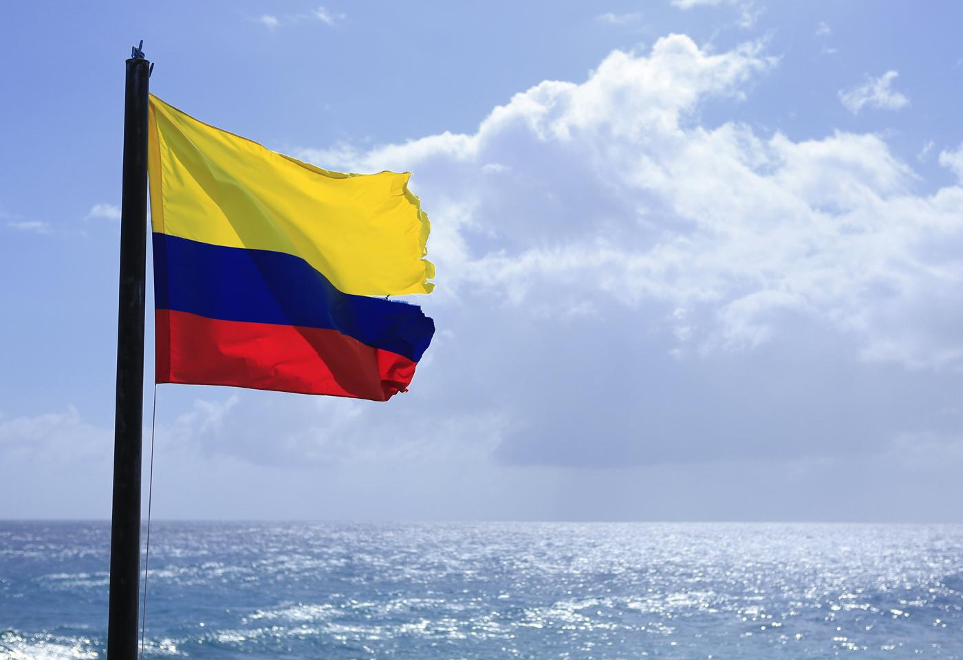 Colombia Bandera Ubicacion